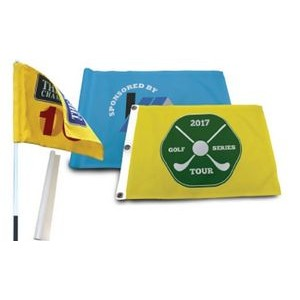 Golf Flag w/Canvas Header & Grommets (1 Sided)