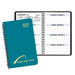 Large Print Weekly Desk Planner w/ Shimmer Cover
