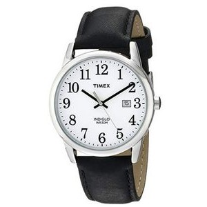 Timex Men's Easy Reader Black Leather Strap 38mm Watch