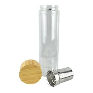 Glass Tea Bottle with Bamboo Lid 15 oz