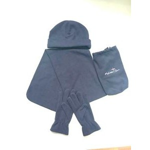 Polar Fleece Hat Scarf and Glove Matching Set